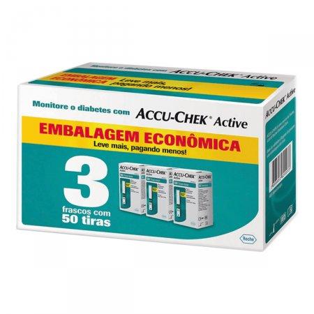 Kit Tiras de Glicemia Accu-Chek Active com 150 unidades