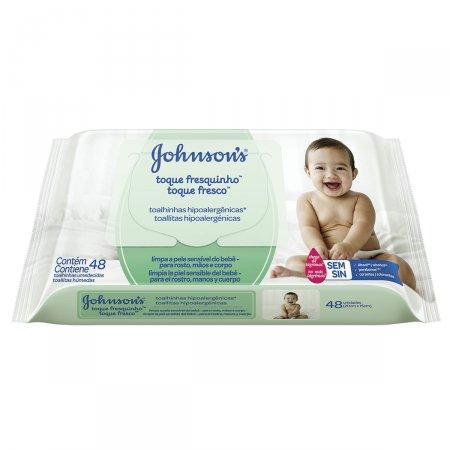 Lenço Umedecido Johnson's Toque Fresquinho