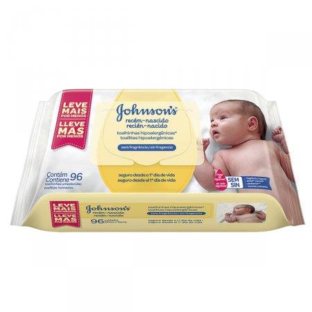 Lenços Umidecidos Johnson's Baby Recém-Nascido Sem Fragância