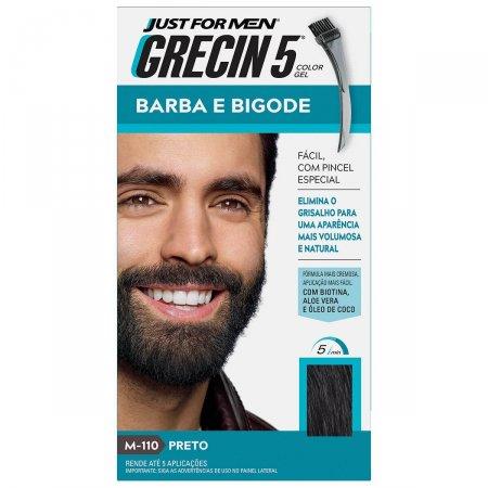 Tonalizante Grecin 5 Just For Men Color Gel Barba e Bigode Preto com 1 Unidade