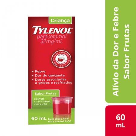 Tylenol Criança 32mg/ml Suspensão Oral Sabor Frutas com 60ml