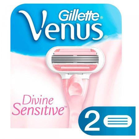 Lâminas Para Aparelho de Depilar Gillette Venus Divine 2 unidades