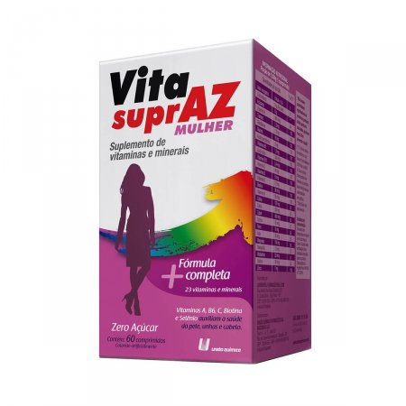 Suplemento Vitamínico Mineral Vita SuprAZ Mulher com 60 comprimidos