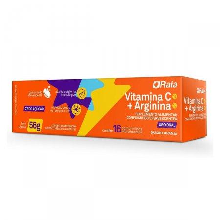 Vitamina C 1G + Arginina 1G Raia com 16 Comprimidos Efervescentes