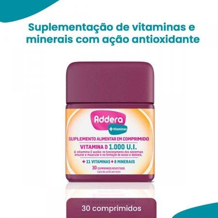 Vitamina D Addera +Vitaminas 1.000UI com 30 Comprimidos | Foto 2