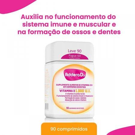 Vitamina D Addera D3 1.000UI com 90 Comprimidos   Foto 2