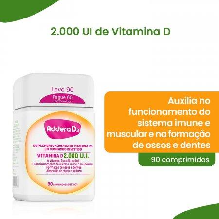 Vitamina D Addera D3 2.000UI com 90 Comprimidos   Foto 3