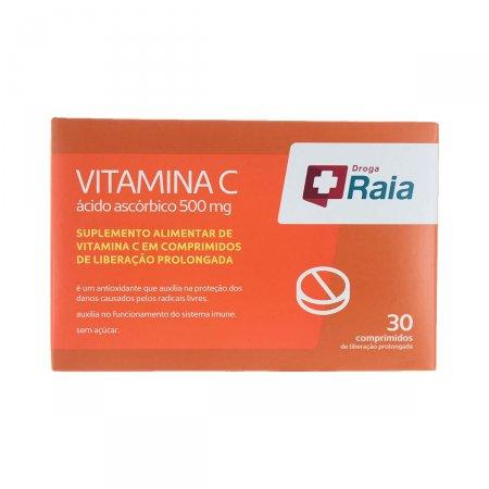 Vitamina C Droga Raia 500mg 30 Comprimidos de Liberação Prolongada | Drogaraia.com Foto 1