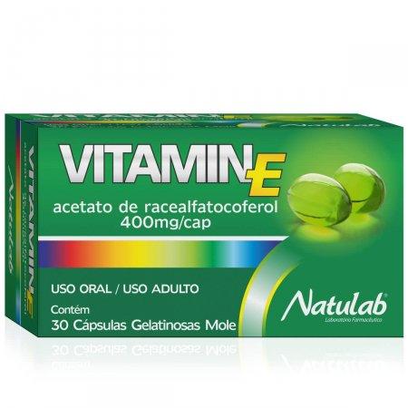 Suplemento Alimentar Vitamin E 400mg com 30 cápsulas