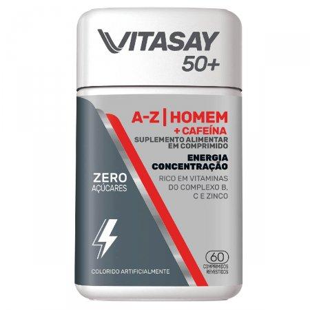 Suplemento Alimentar Vitasay Homem 50+ A-Z + Cafeína