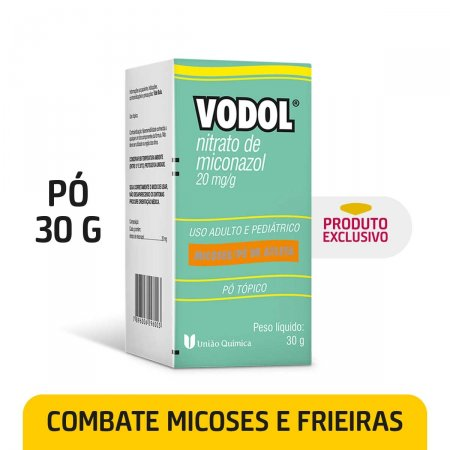Vodol 20mg/g Pó Tópico com 30g