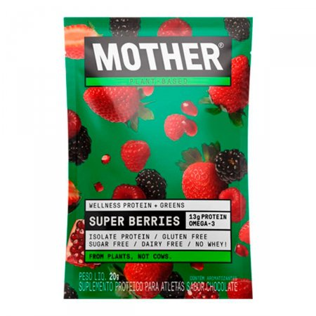 Suplemento Proteico Mother Wellness & Greens Sachê Super Berries