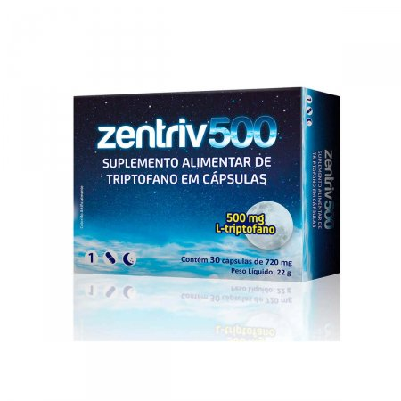 Suplemento Alimentar Zentriv 500mg com 30 cápsulas