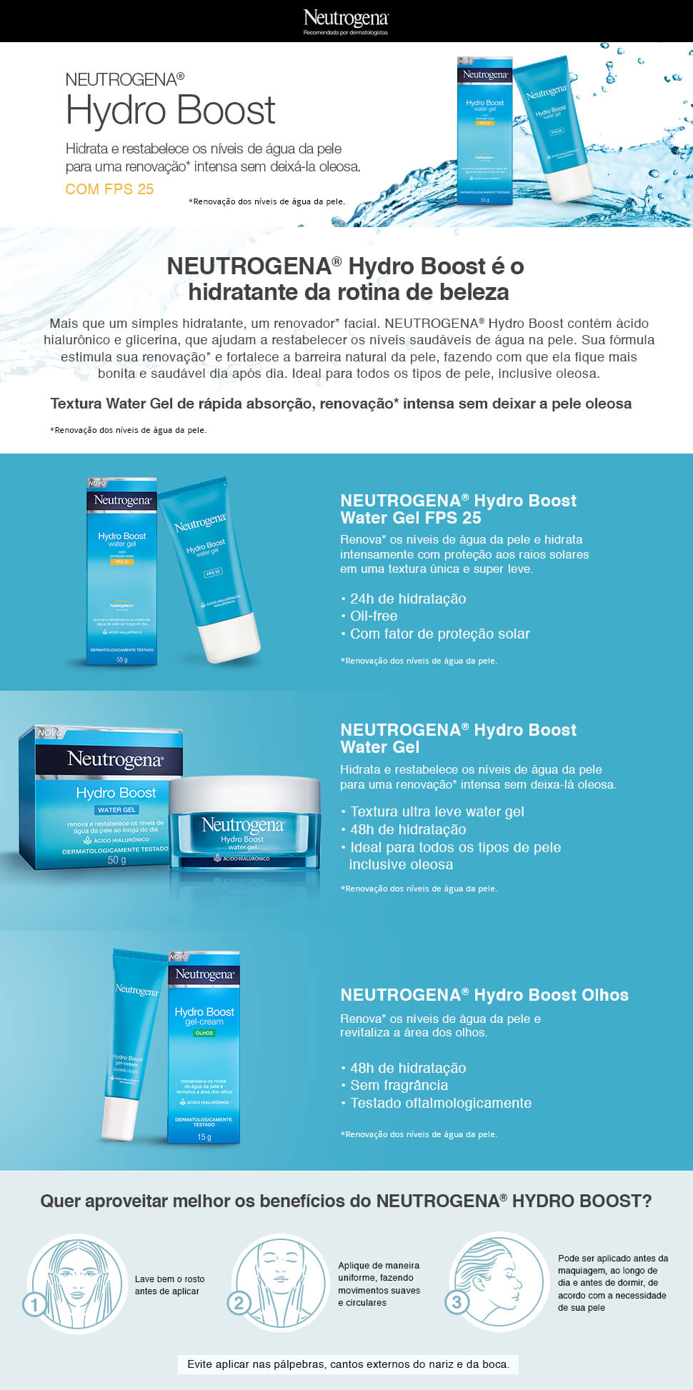 Lamina Neutrogena Hydro Boost Water Gel