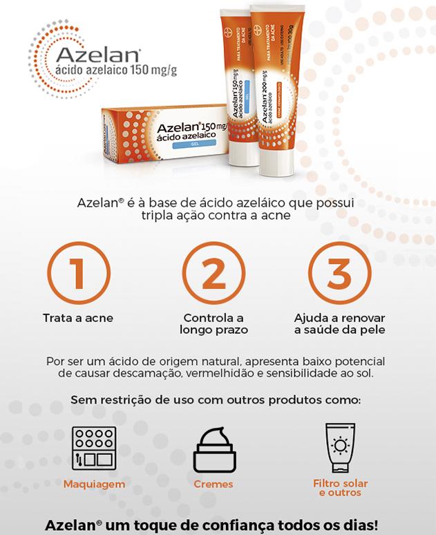 Azelan 200mg 30g creme Bayer | Droga Raia