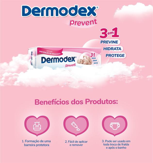 Explicativo Creme para Prevenção de Assaduras Dermodex Prevent