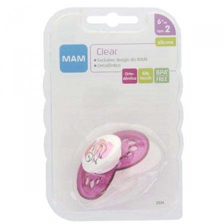 Chupeta Mam Clear Girls 6+ Meses - 2334 Cores Sortidas