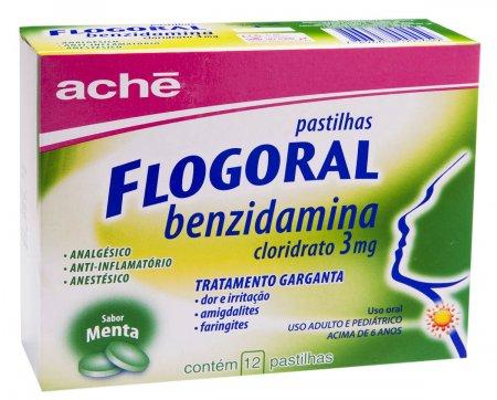 Flogoral Menta 12 Pastilhas