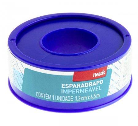 Esparadrapo Impermeável Branco 1,2cm X 4,5m Needs 1 Unidade | Onofre.com