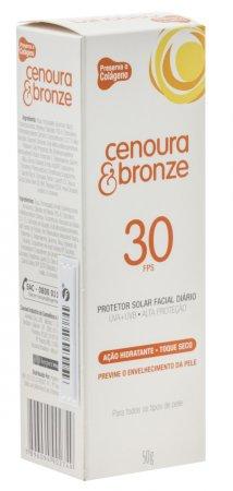 Protetor Solar Facial Cenoura & Bronze FPS30
