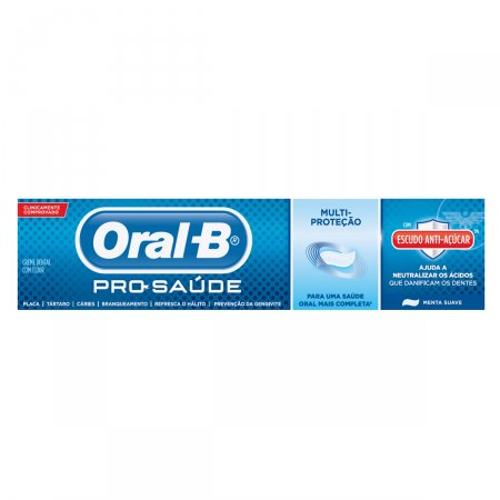 Creme Dental Oral-B Pro Saúde Escudo Antiaçúcar Sabor Menta
