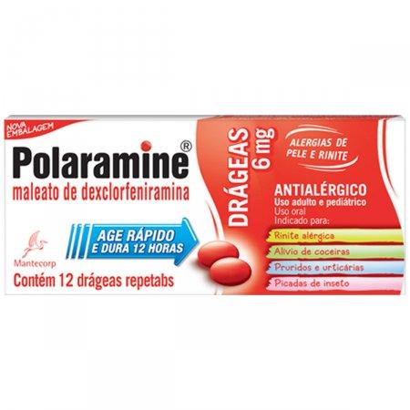 Polaramine 6mg 12 Drágeas