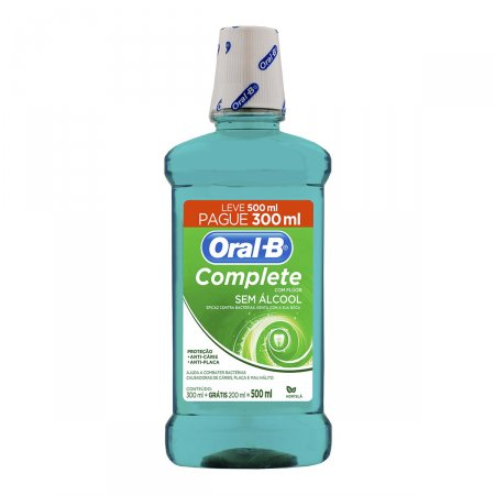 Antisséptico Bucal Oral B Complete Sabor Hortelã