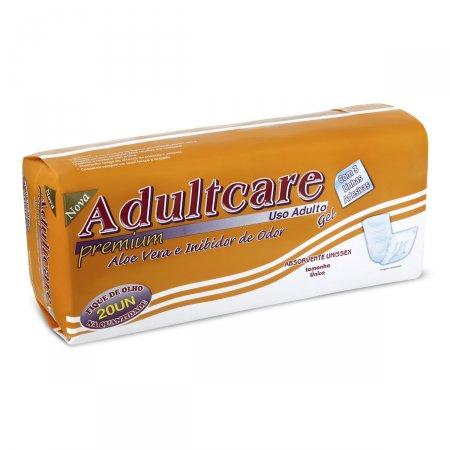 Absorvente Geriátrico Adultcare Premium Unissex com 20 unidades