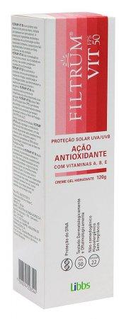 Protetor Solar Creme Gel Filtrum Vit FPS50 120g