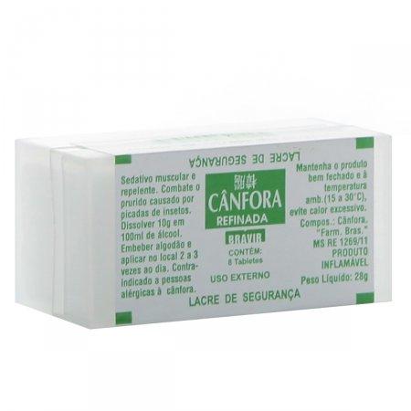 Estojo Bravir Bendita Cânfora 8 Tabletes