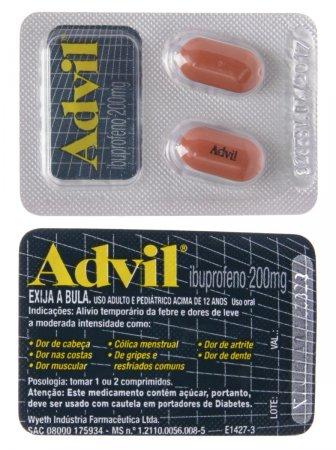 Advil 200mg 2 Comprimidos