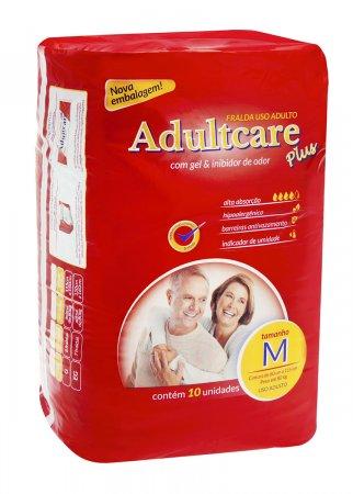 Fralda Geriátrica Adultcare Média Com 10 Unidades