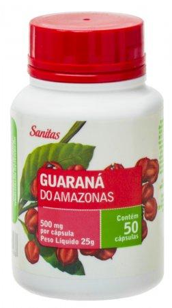 Guaraná do Amazonas Sanitas 500mg 50 Cápsulas Lifar