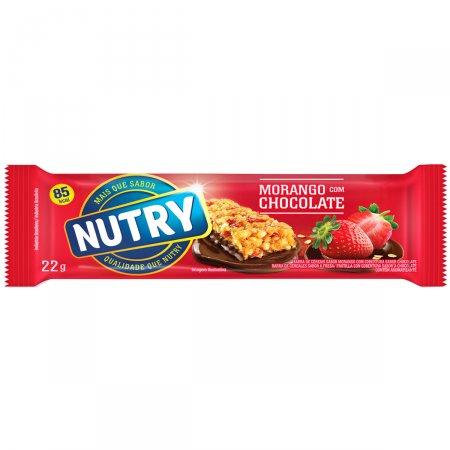 Barra de Cereal Nutry Morango com Chocolate