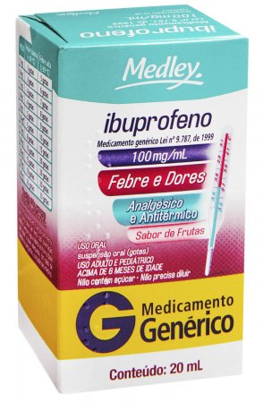 Ibuprofeno 100mg/ml Medley Suspensão Oral com 20ml