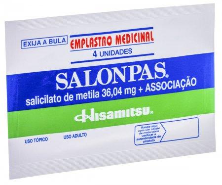 Salonpas Emplastro Pequeno Com 04 unidades