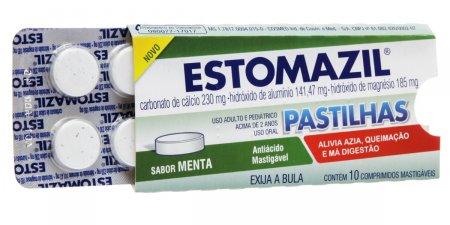 Estomazil Pastilhas Sabor Menta 10 Comprimidos Mastigáveis