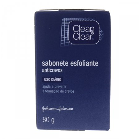 Sabonete Clean&Clear Anti-Cravo Facial Barra  80g