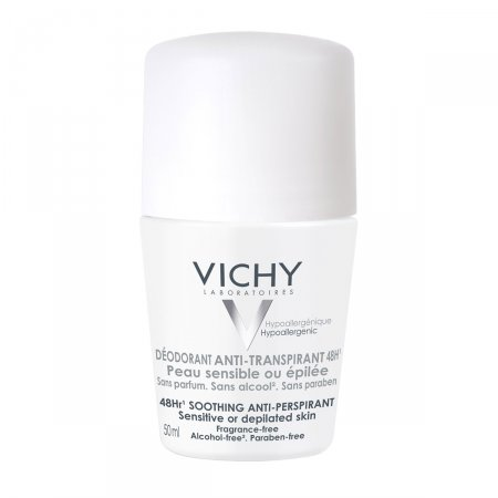 Desodorante Antitranspirante Vichy Roll-On Peles Sensíveis com 50ml