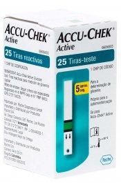 Tiras Accu-Chek Active Controle do Diabetes 25 Unidades