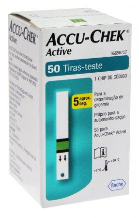Tiras Accu-Chek Active Controle do Diabetes 50 Unidades
