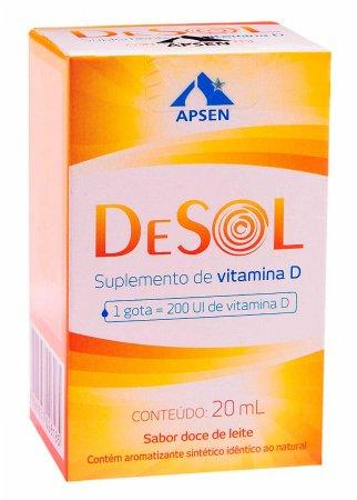 Vitamina D 200UI DeSol Solução com 20ml