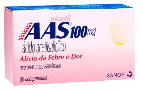 AAS Infantil 100mg 30 Comprimidos