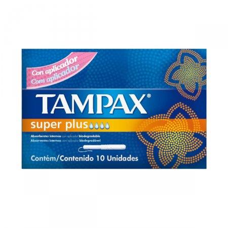 Absorvente Interno Tampax com Aplicador Super 10 Unidades