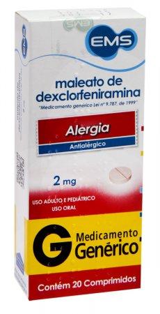 Maleato de Dexclorfeniramina 2mg