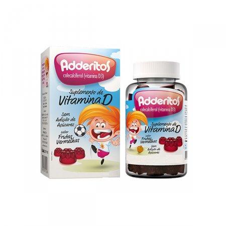 Adderitos Suplemento de Vitamina D Sabor Frutas Vermelhas 30 Gomas