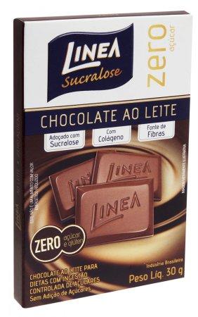 Chocolate Linea Sucralose ao Leite Zero Açucar 30g