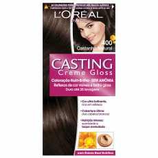Coloração Permanente Casting Creme Gloss N° 400 Castanho Natural