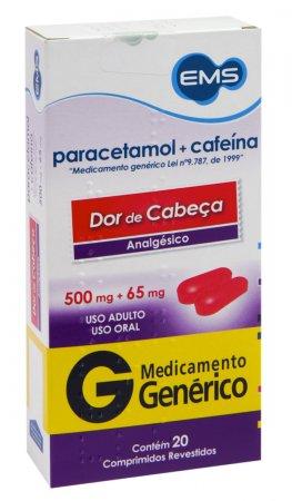 Paracetamol 500mg + Cafeína 65mg