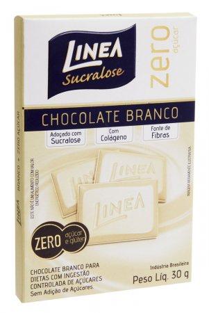 Chocolate Linea Sucralose Chocolate Branco Zero Açucar 30g
